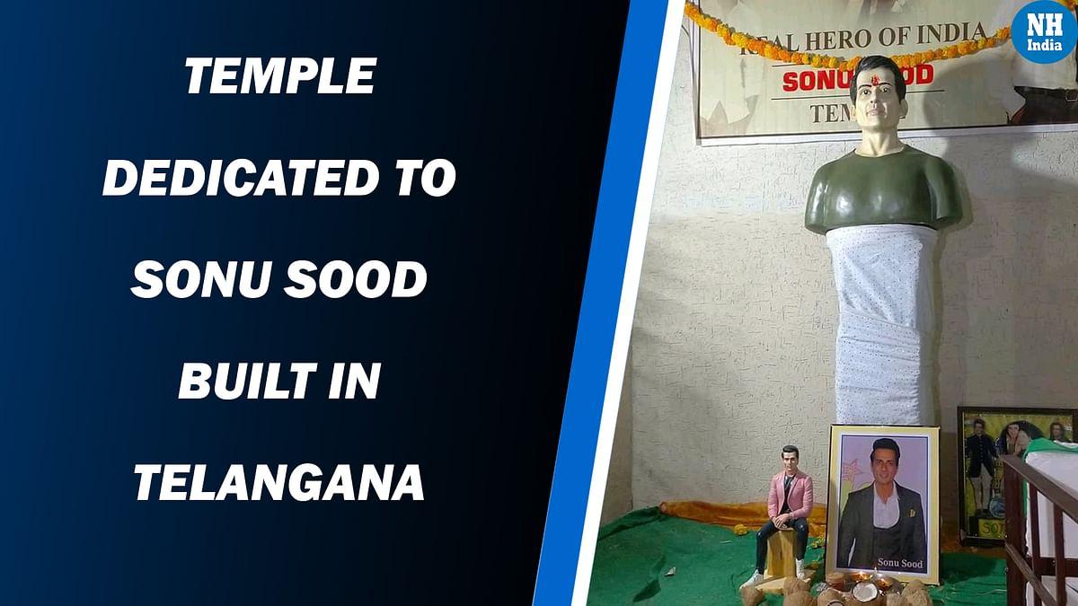 Temple dedicated to Sonu Sood built-in Telangana
