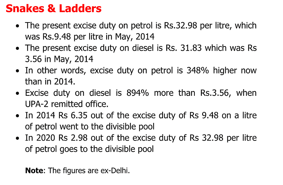 High fuel prices: blame it on high central excise which has increased manifold since 2014