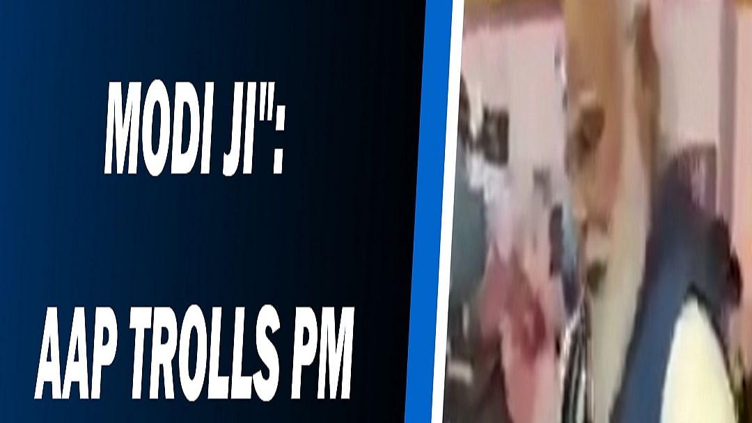 """Don't be like Modi Ji"":  AAP trolls PM for not wearing mask"