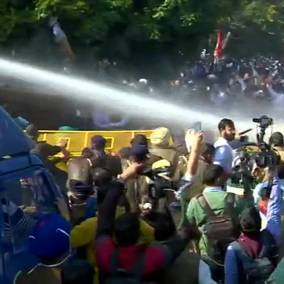 LIVE News Updates: Water cannons used to stop Cong workers from marching to Haryana CM's home over farm laws