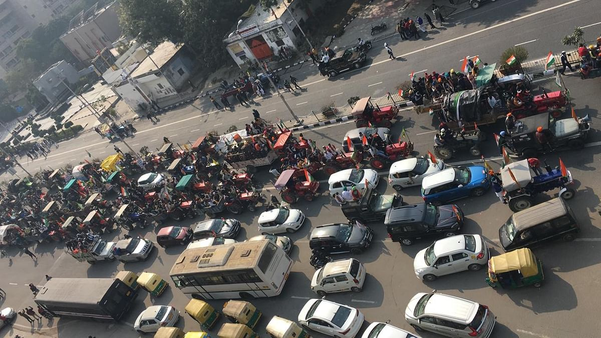 Traffic affected in parts of Delhi due to farmers' tractor rally
