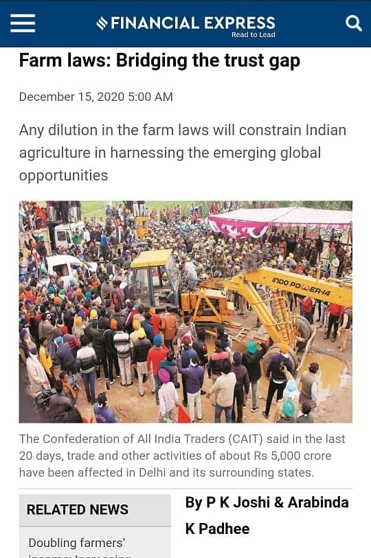 SC committee members backed farm laws, called protest 'misguided; stay  isn't a solution: AIKSCC