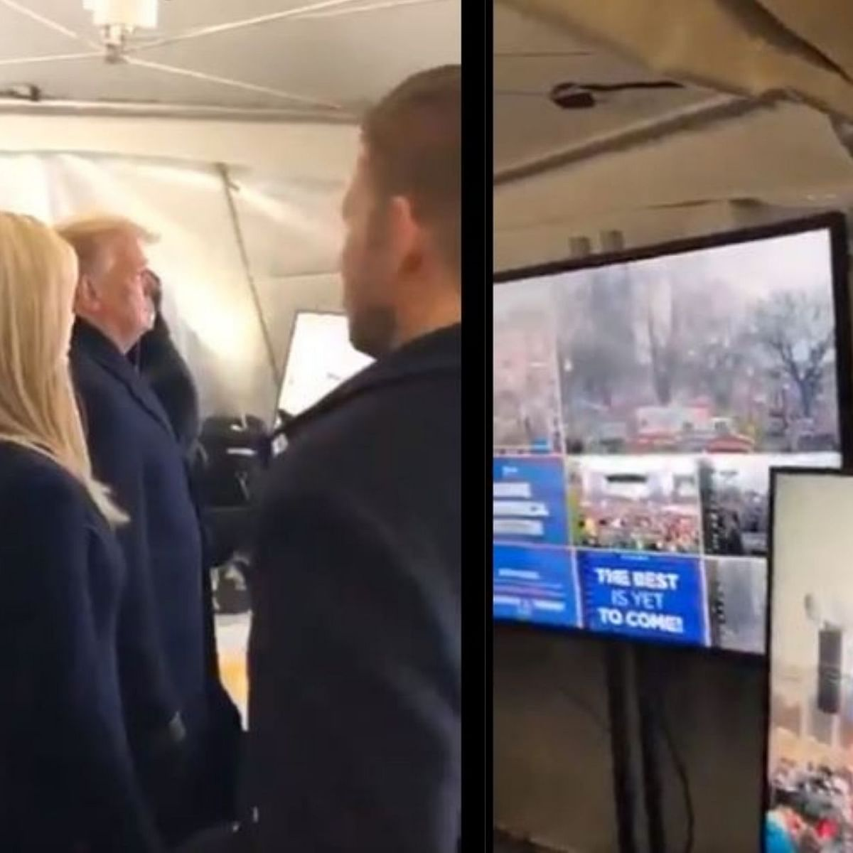 WATCH: Viral video shows Trump watching Capitol attack on monitors in makeshift 'war room', family celebrating