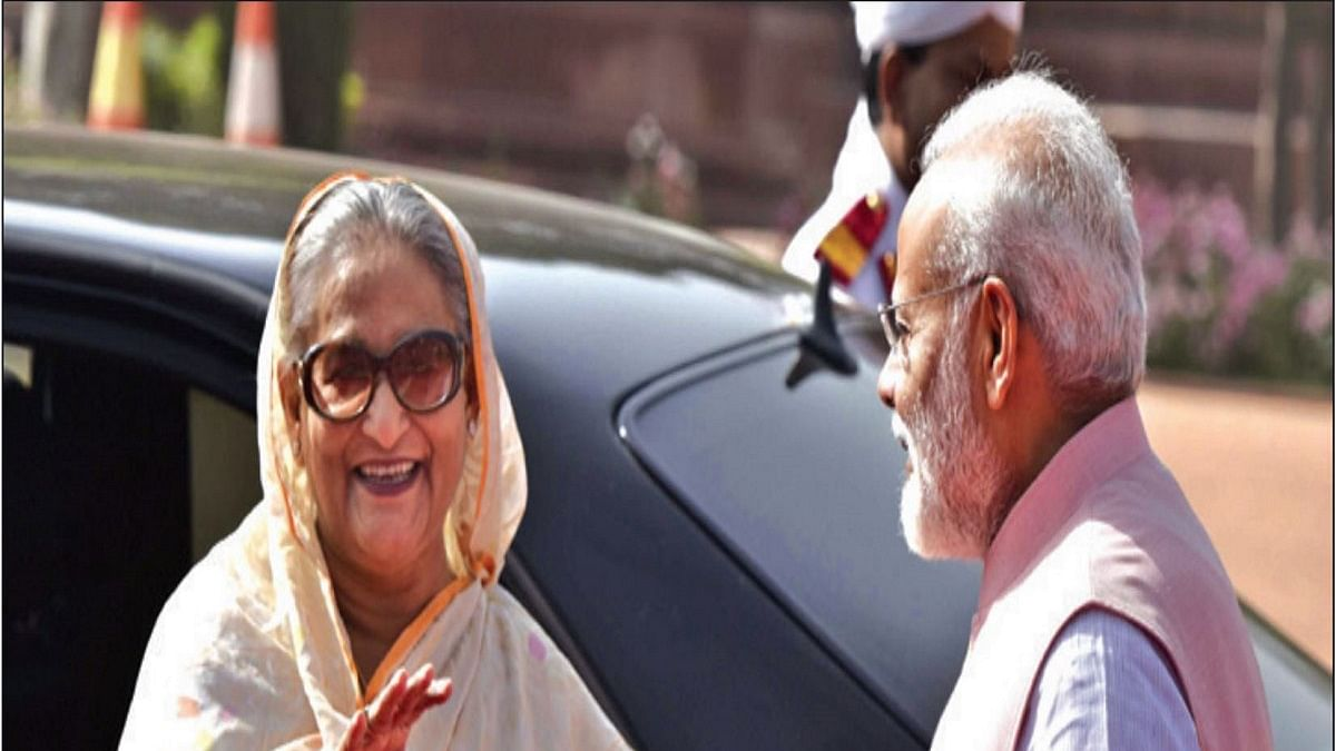 PM Modi with Bangladesh PM Sheikh Hasina