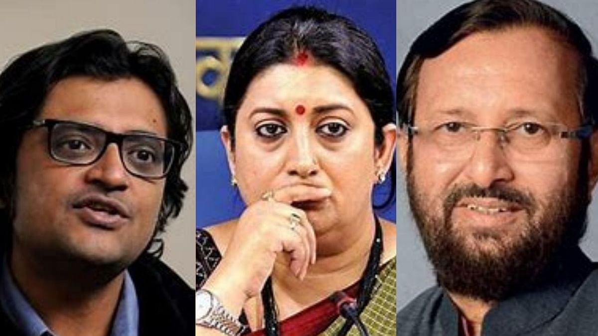 Javadekar 'useless', would prefer Irani as I & B Minister, says Arnab Goswami in leaked WA chat