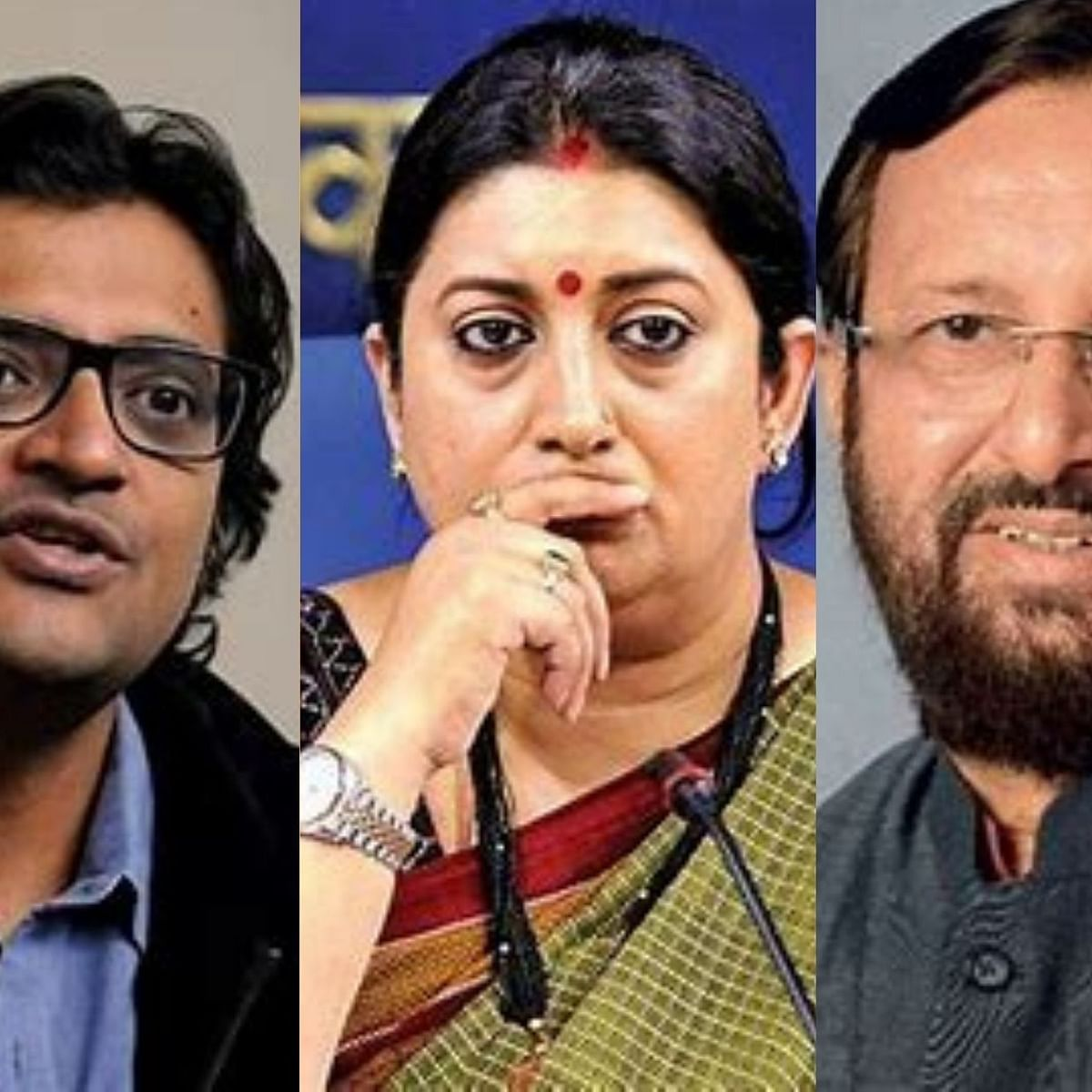 Javadekar 'useless', would prefer Irani as I & B Minister, says Arnab Goswami in leaked WA chat