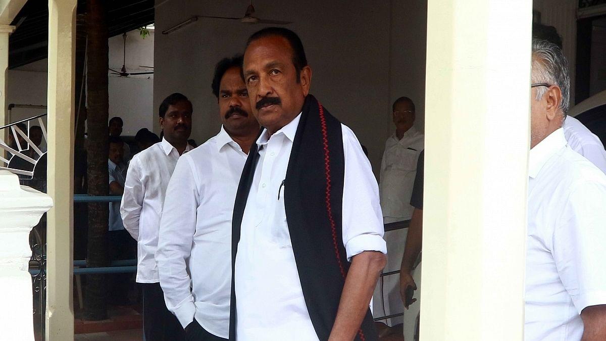 MDMK General Secretary and Rajya Sabha member Vaiko (Photo Courtesy: IANS)