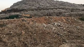 42 metre high mountain of waste at Gurugram garbage plant