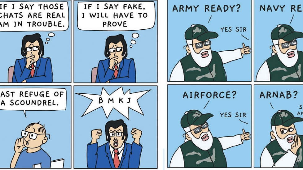 Chats of Arnab Goswami expose the Government even more than the anchor and businessman