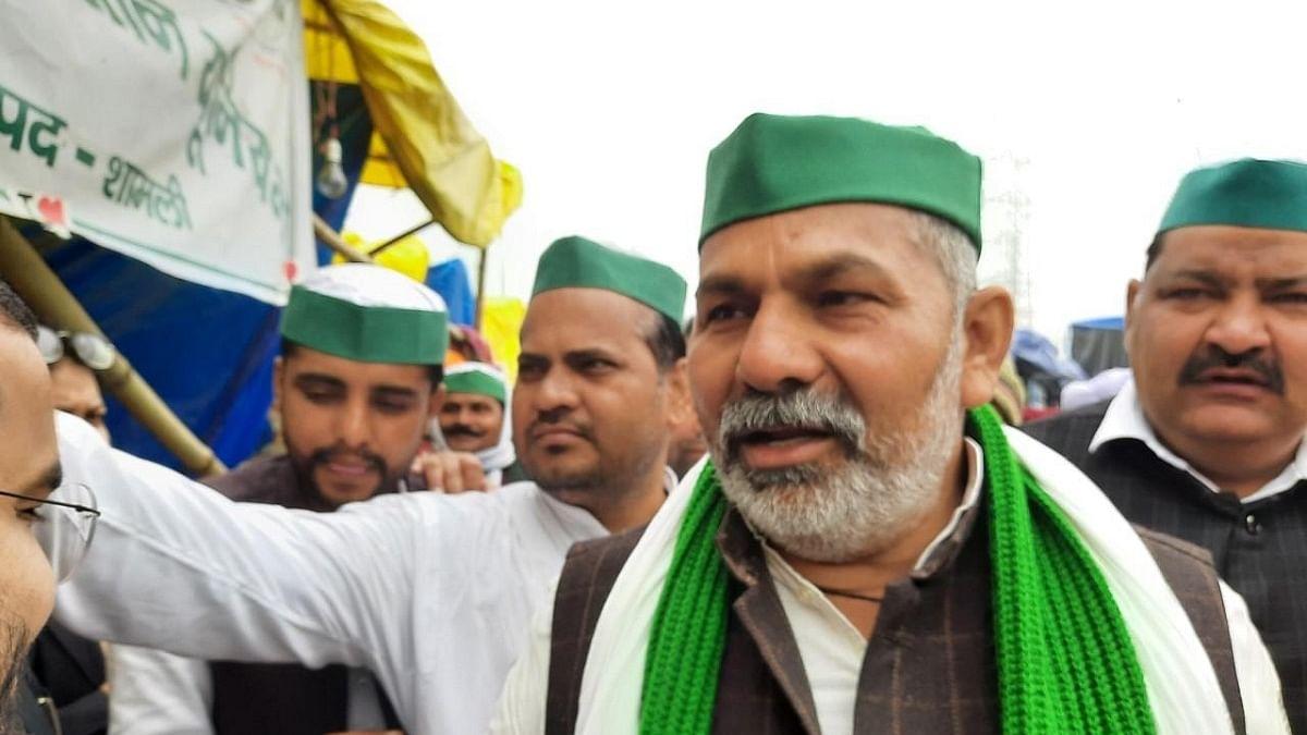 Bharatiya Kisan Union (BKU) spokesperson Rakesh Tikait