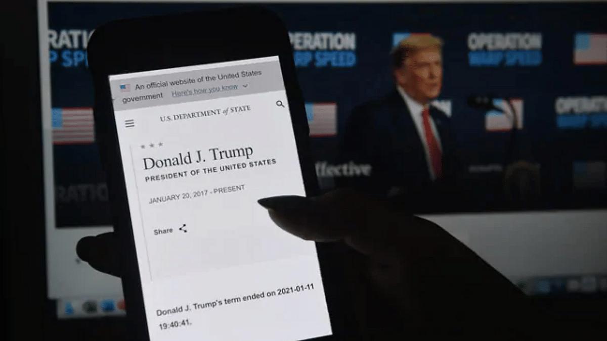 US State Department announces Donald Trump departure, later deletes post
