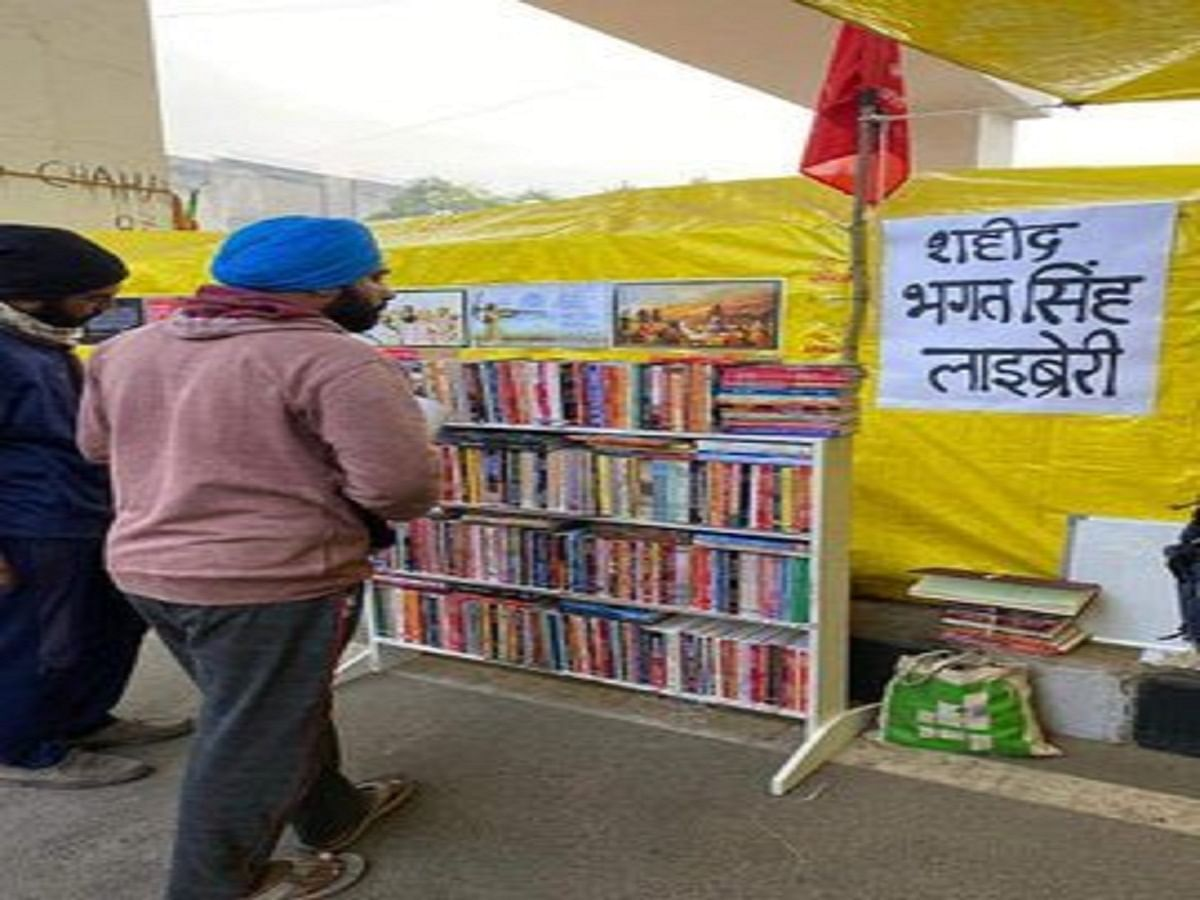 Books vs batons: After Shaheen Bagh, 'protest site libraries' recreated by  farmers at Delhi's borders
