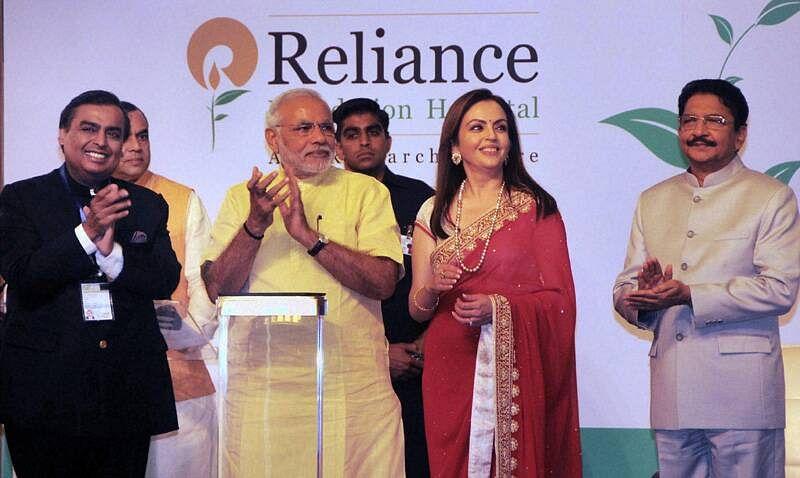 PM Narendra Modi at an event organised by Mukesh Ambani-led Reliance group