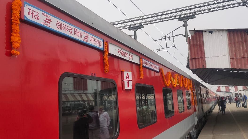 Railway Minister Piyush Goyal gifts a  special train to UP's latest MLC