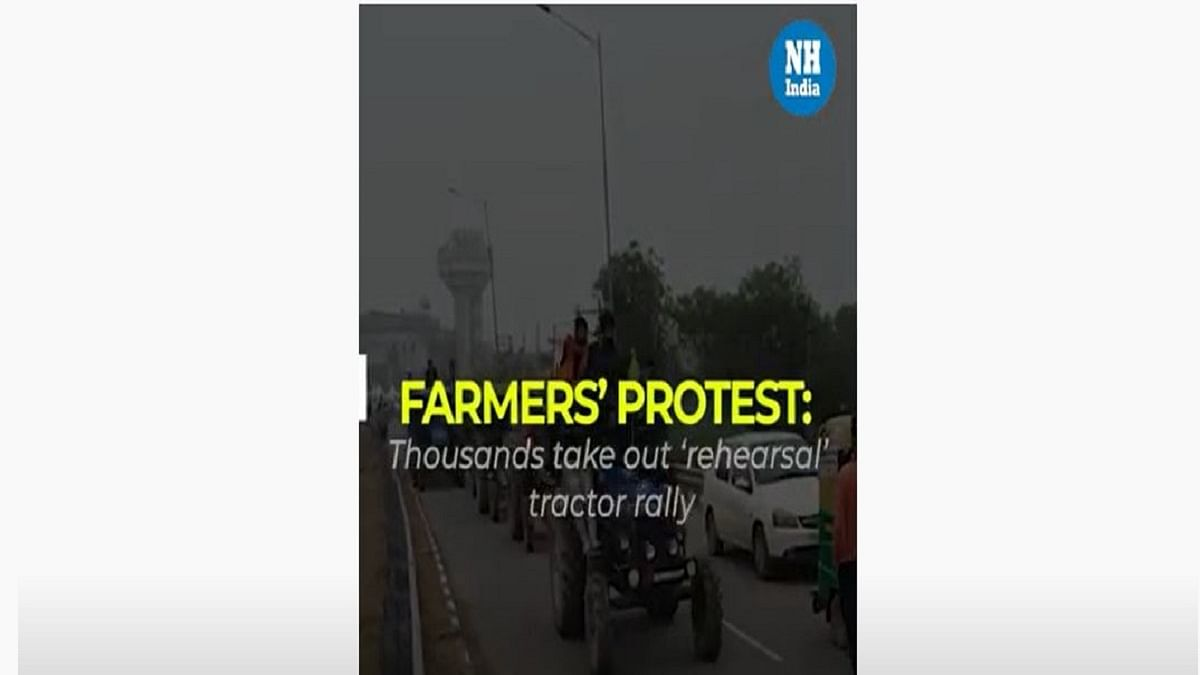 Farmers' protest: Thousands take out 'rehearsal' tractor rally