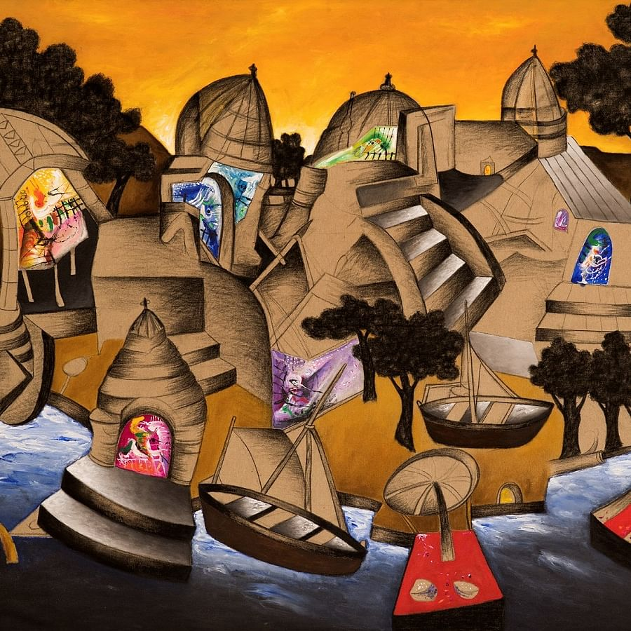 A luxury art exhibition featuring Indian master artists