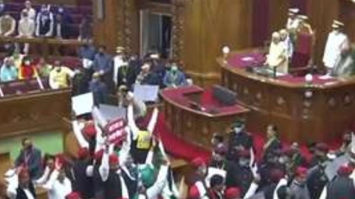 Uttar Pradesh: SP creates ruckus in Assembly, then walks out