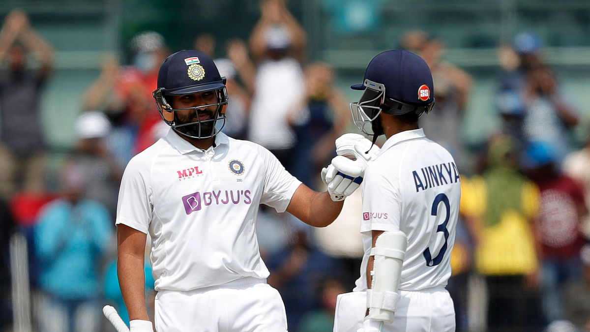 2nd Test: Rohit Sharma's hundred steers India to 189/3 at tea