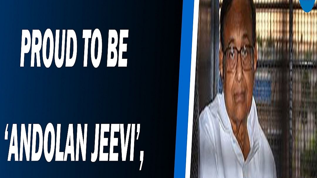 Proud to be 'andolan jeevi', Chidambaram takes jibe at PM Modi