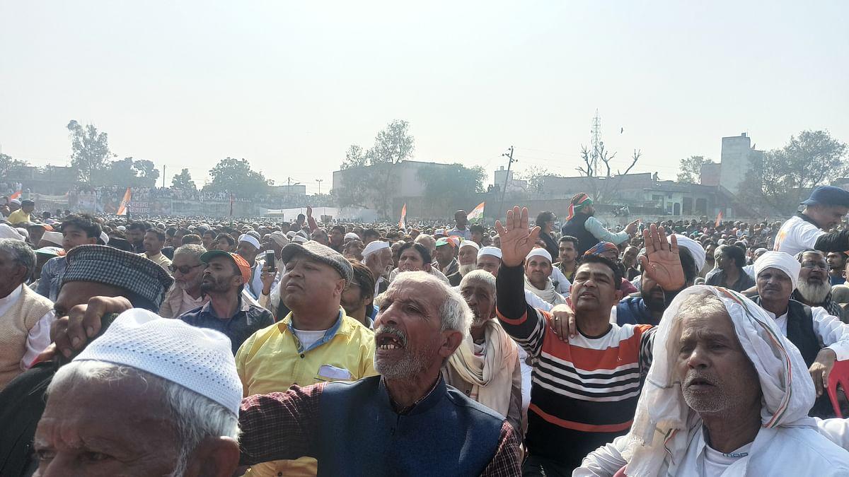 People turned up in large numbers to listen to Priyanka Gandhi in Muzaffarnagar on Saturday. (Photo: Aas M. Kaif)