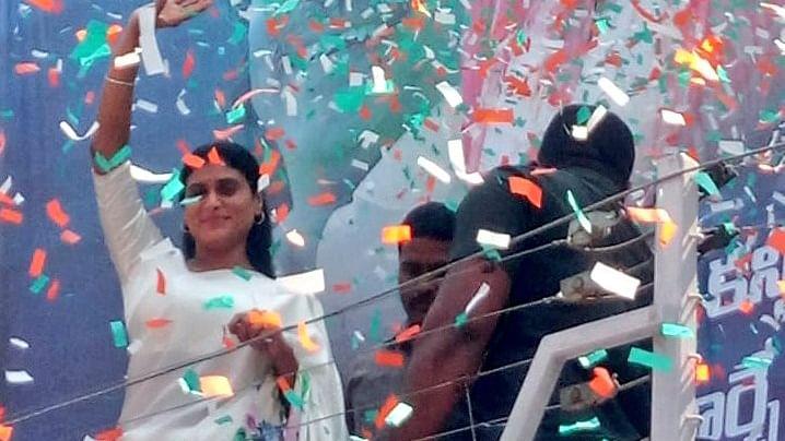 Andhra Pradesh Chief Minister Y S Jagan Mohan Reddy's sister YS Sharmila
