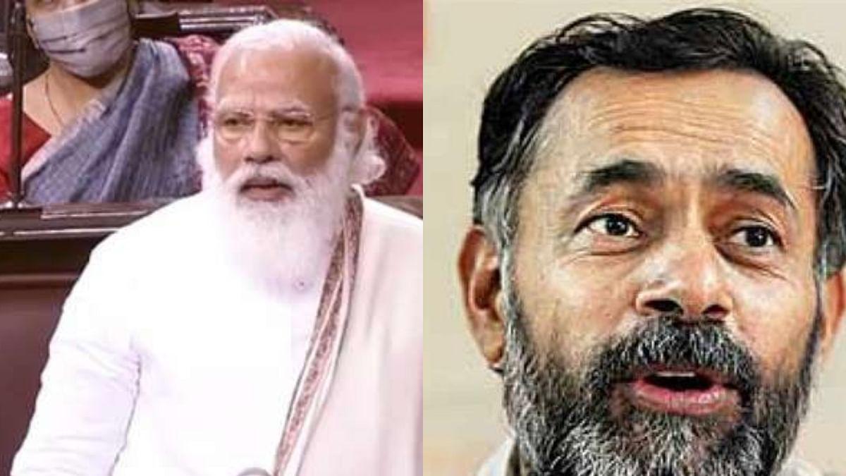 Yogendra Yadav returns PM's 'Andolanjivi' jibe with 'Andolanbhogi' tag