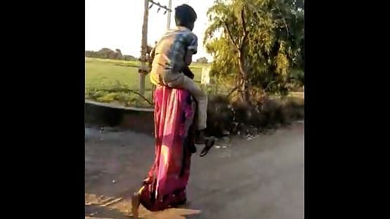Madhya Pradesh: Woman thrashed, forced to walk with boy on shoulders by in-laws