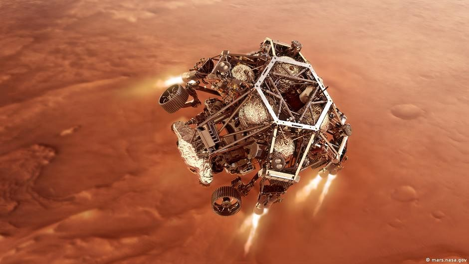 Revealed! Mars rover's giant parachute carried secret message