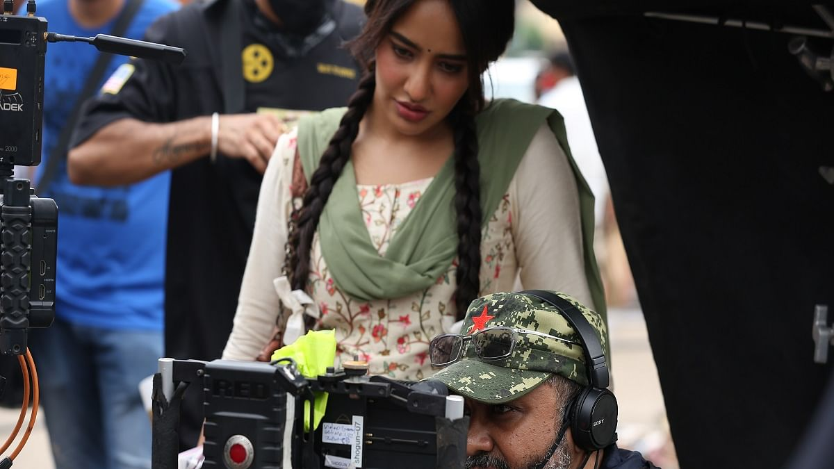 Director Indrajit Nattoji on the sets of 'Afat-e-Ishq