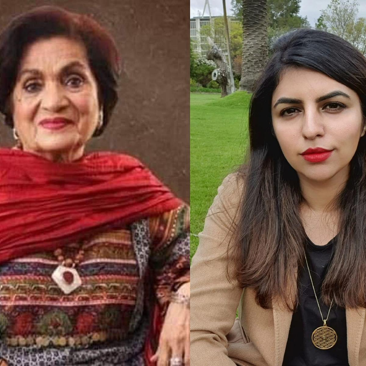 Haseena Moin (Left) Saadia Ahmed (Right)