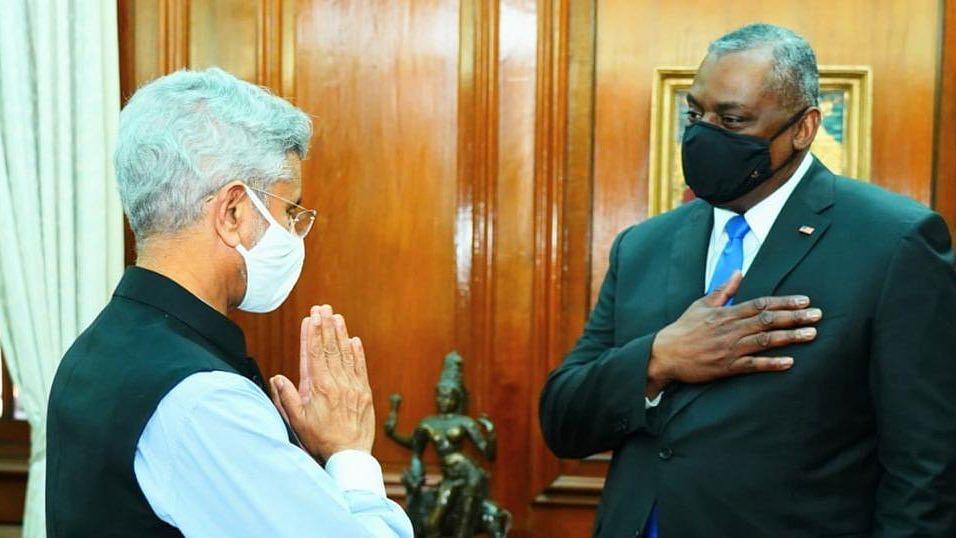 EAM Jaishankar meets visiting US Defence Secretary Lloyd Austin