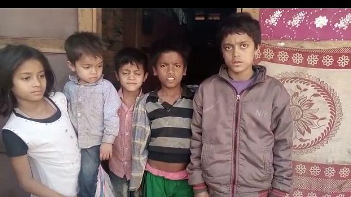 Children at a Rohingya ghetto in Jammu