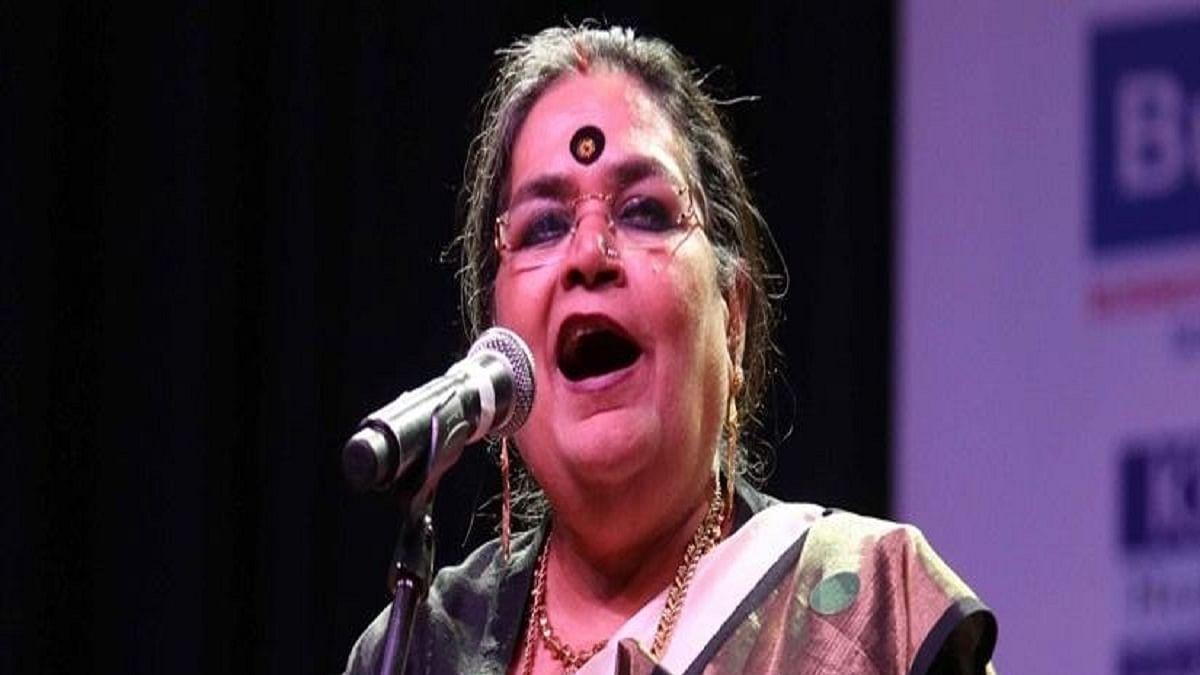 Playback singer Usha Uthup (Photo Courtesy: IANS)