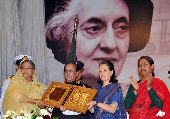 Bangladesh honoured its biggest benefactor Indira Gandhi in 2011, 40 years after liberation