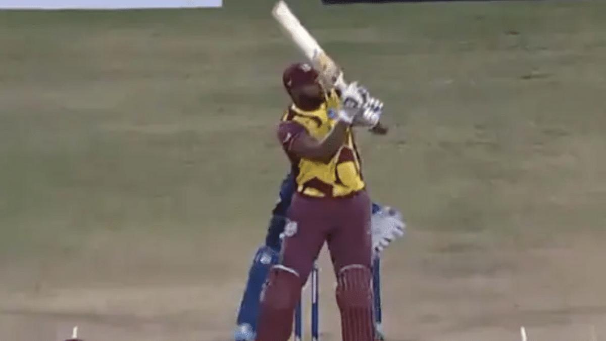 WATCH: Keiran Pollard hits six sixes in an over as Windies beat Sri Lanka