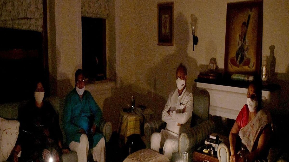 Rajasthan CM Ashok Gehlot observes Earth Hour at official residence, to issue public appeal next year