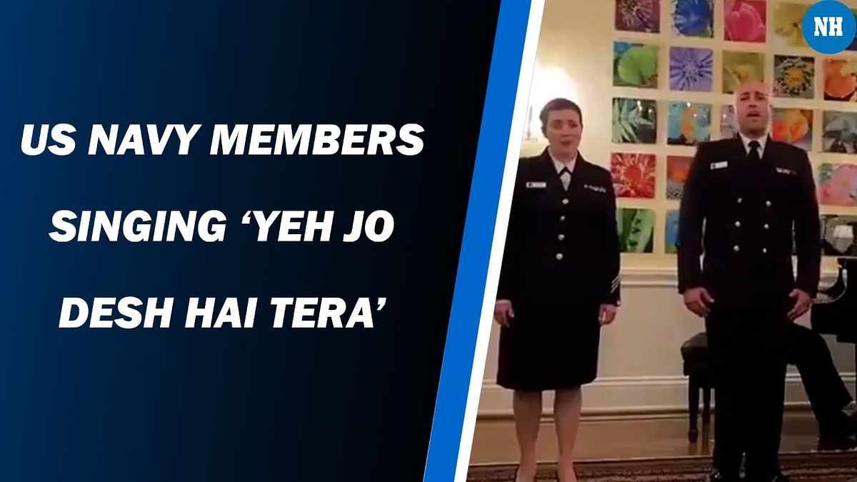 US Navy Members Singing 'Yeh Jo Desh Hai Tera'
