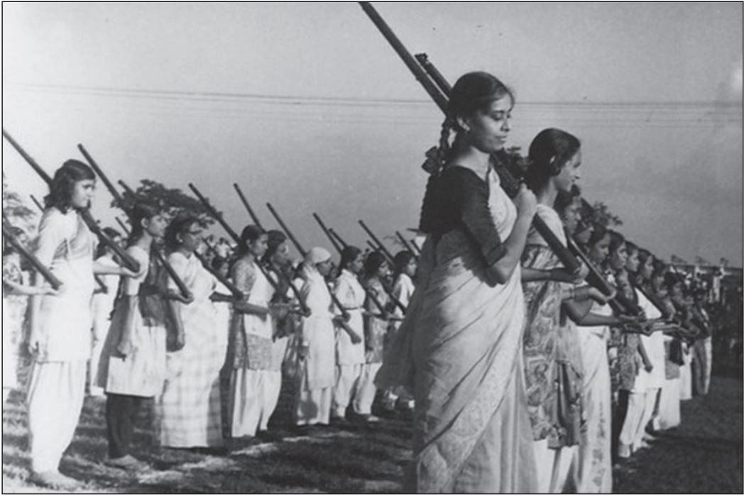 Training in Azimpur field, before Liberation. Dhaka, Bangladesh, 1971