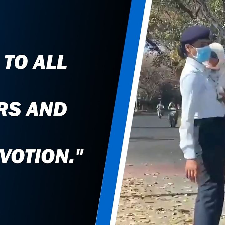 Chandigarh cop controls traffic with baby in her arms!