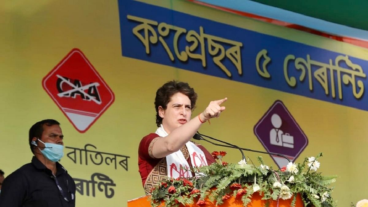 Congress will bring law to nullify CAA in Assam if voted to power in assembly polls: Priyanka Gandhi