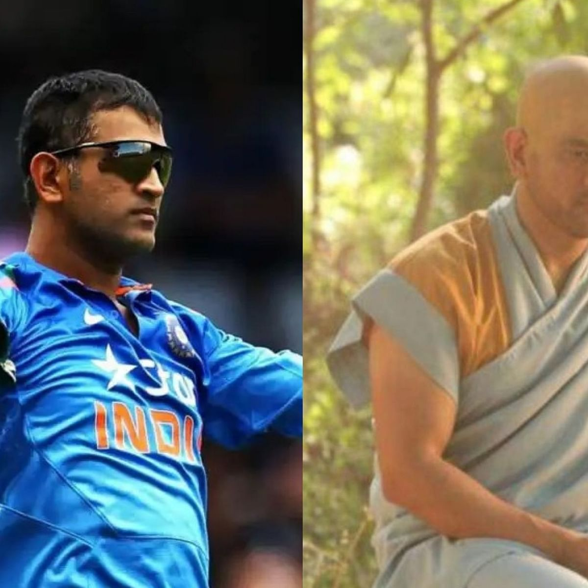 Dhoni's monk look sends social media in a frenzy