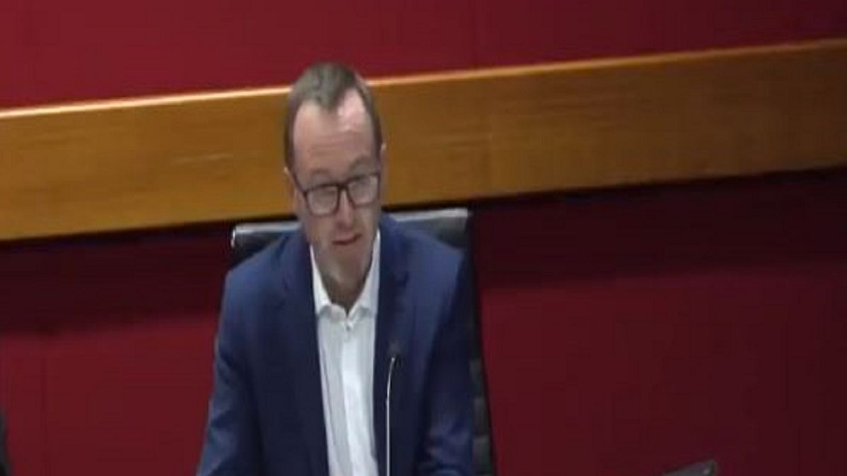 New South Wales (NSW) State Senator David Shoebridge (Screen grab from the video)