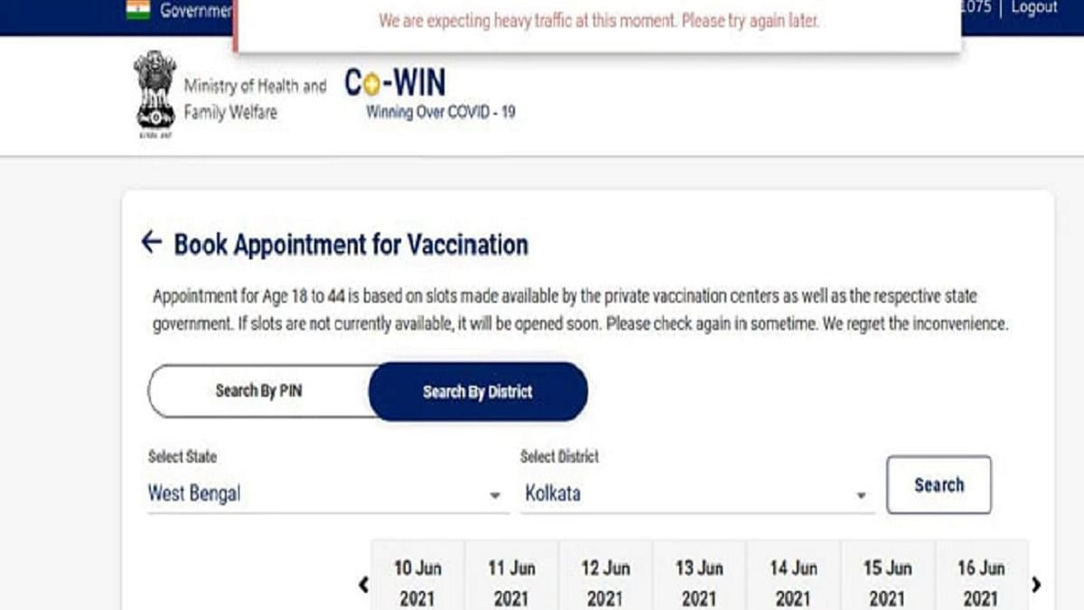 Govt servers crash as lakhs in 18-45 age group try to register for COVID vaccination