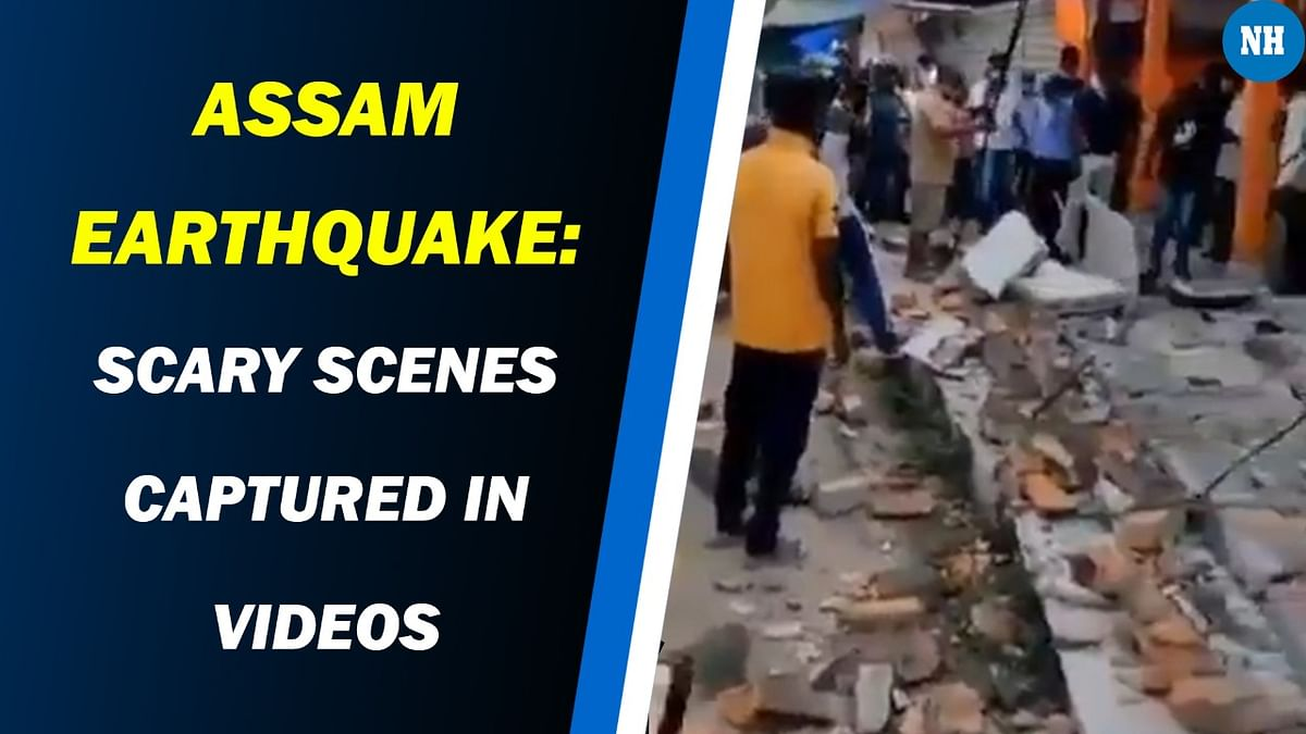 Assam earthquake: Cracked roads, tilted buildings captured in videos