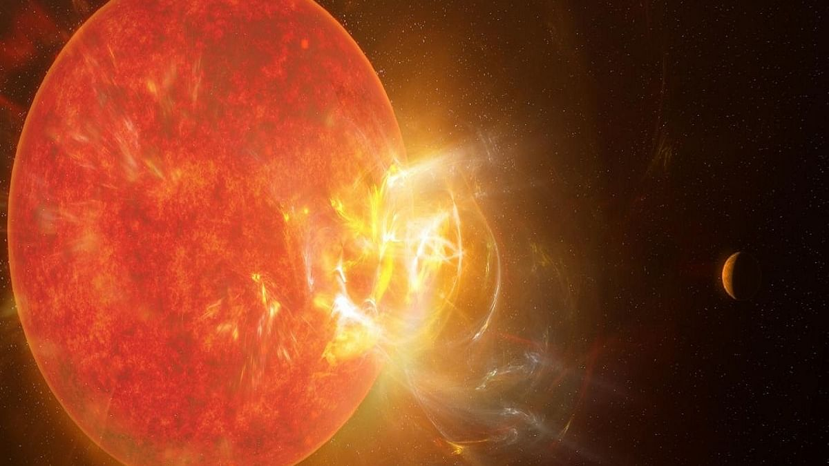 Record-breaking flare spotted on Sun's nearest neighbour