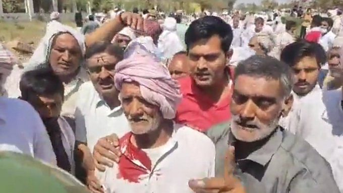 Farmers hold protest against CM Khattar in Haryana's Rohtak, lathi-charged