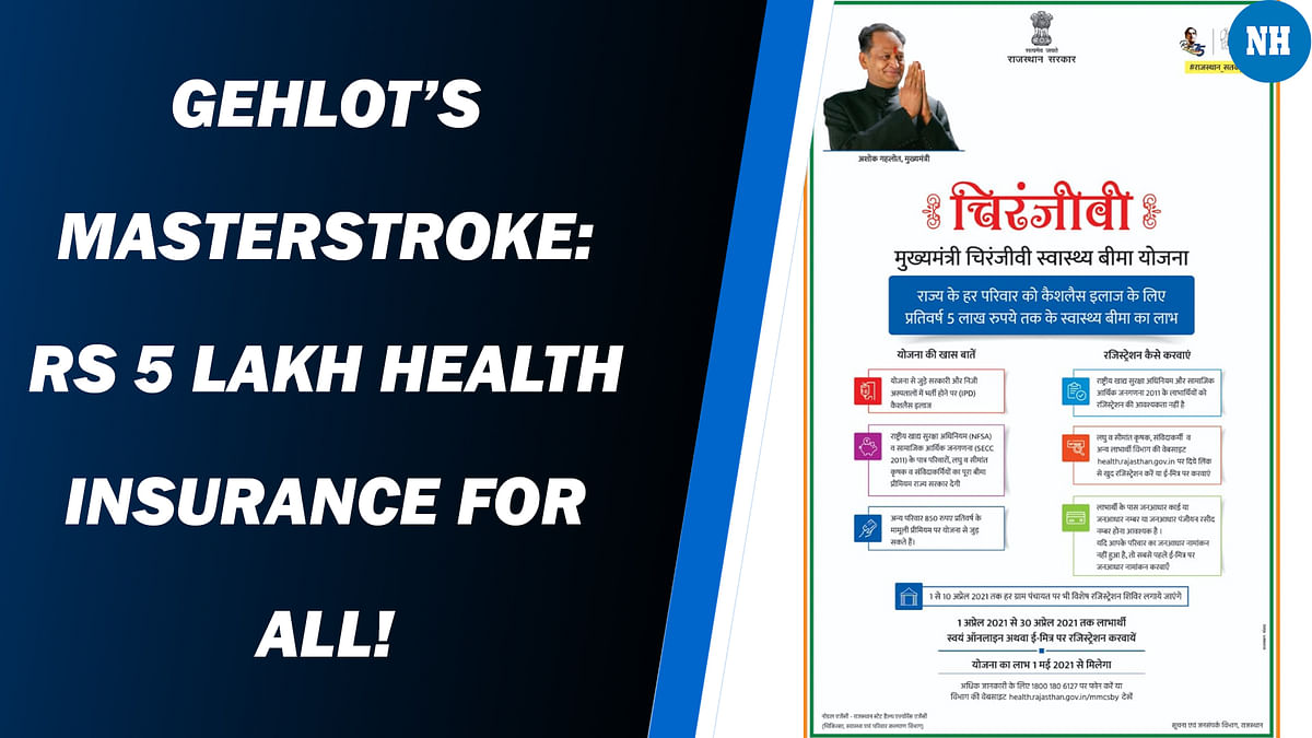 Rajasthan Becomes First State To Provide Rs 5 Lakh Health Insurance