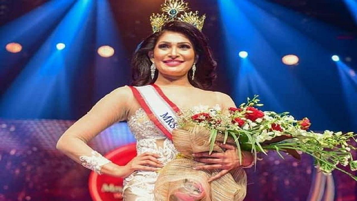 Caroline Jurie, 2019 winner of Mrs. Sri Lanka (Photo Courtesy: IANS)