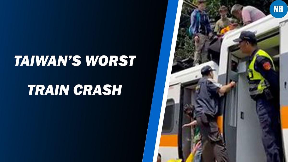 Taiwan train crash leaves 48 dead