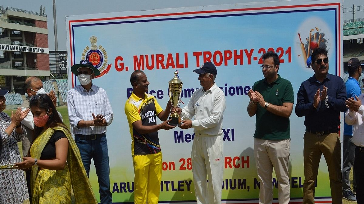 G Murali trophy: Delhi Police thrash Press to retain title